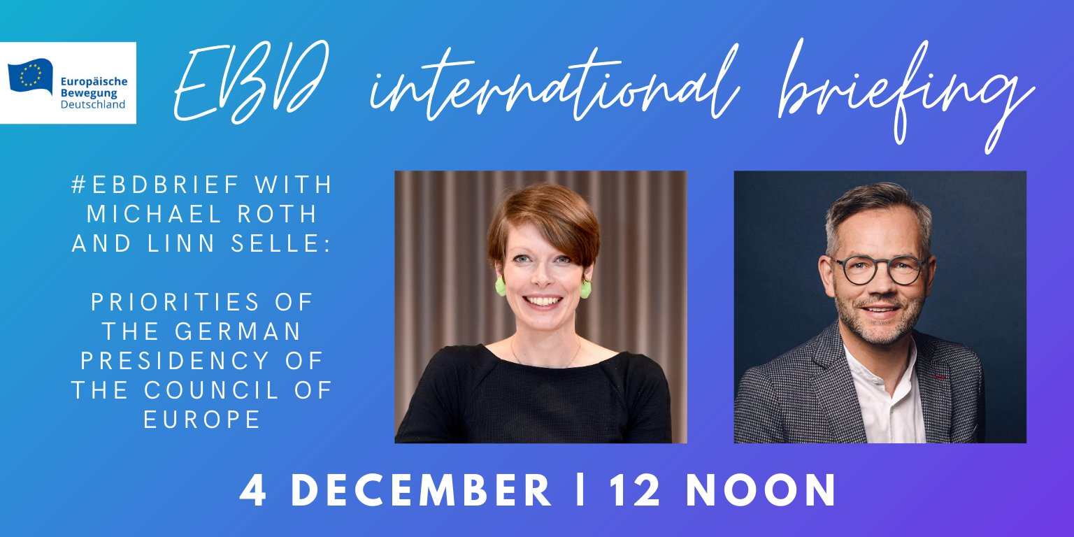 EBD international briefing with Michael Roth | 04.12.2020