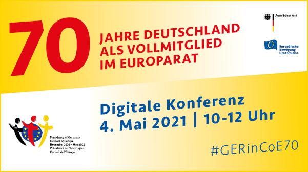 70 Jahre Deutschland als Vollmitglied im Europarat
