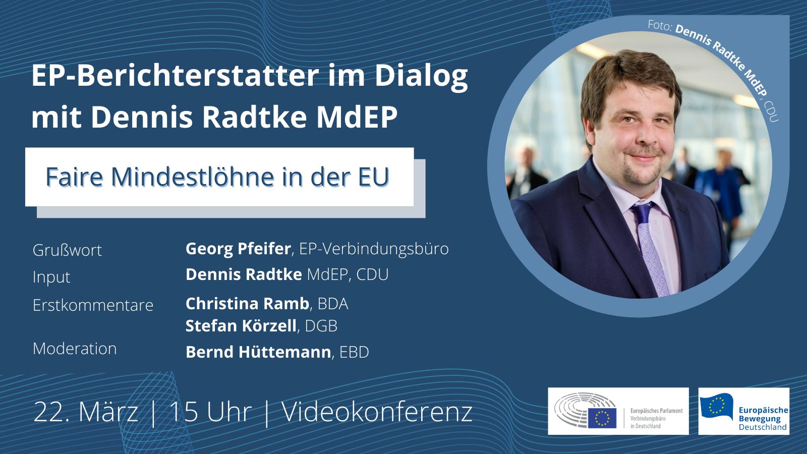 EP-Berichterstatter im Dialog: Dennis Radtke   22.03.2021