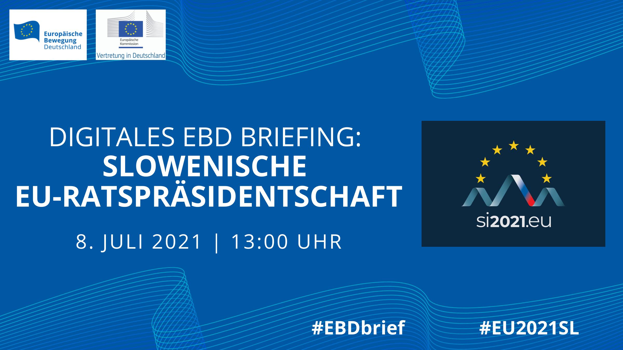 EBD Briefing: Slowenische EU-Ratspräsidentschaft